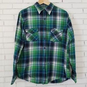 Green & Blue Men's Arizona Flannel